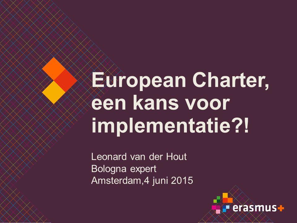 European Charter, een kans voor implementatie .