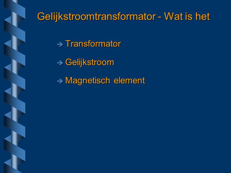 Waarom Meten Grote stromenGrote stromen –Elektromagneten, accugelijkrichters Galvanische scheidingGalvanische scheiding –Hoogspanning, bundels geladen deeltjes Vermogens versterkers –saturable reactor, transductor Powerpulsers Computer voedingen