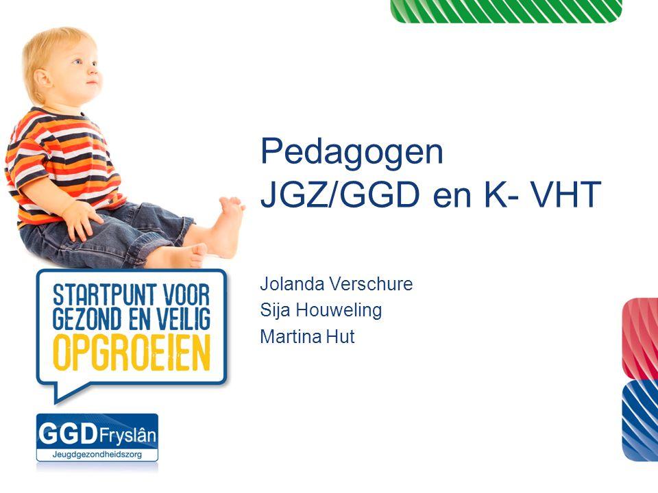 Pedagogen JGZ/GGD en K- VHT Jolanda Verschure Sija Houweling Martina Hut