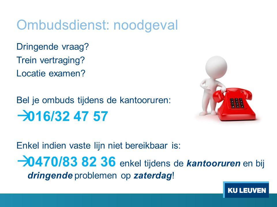 Ombudsdienst: noodgeval Dringende vraag. Trein vertraging.