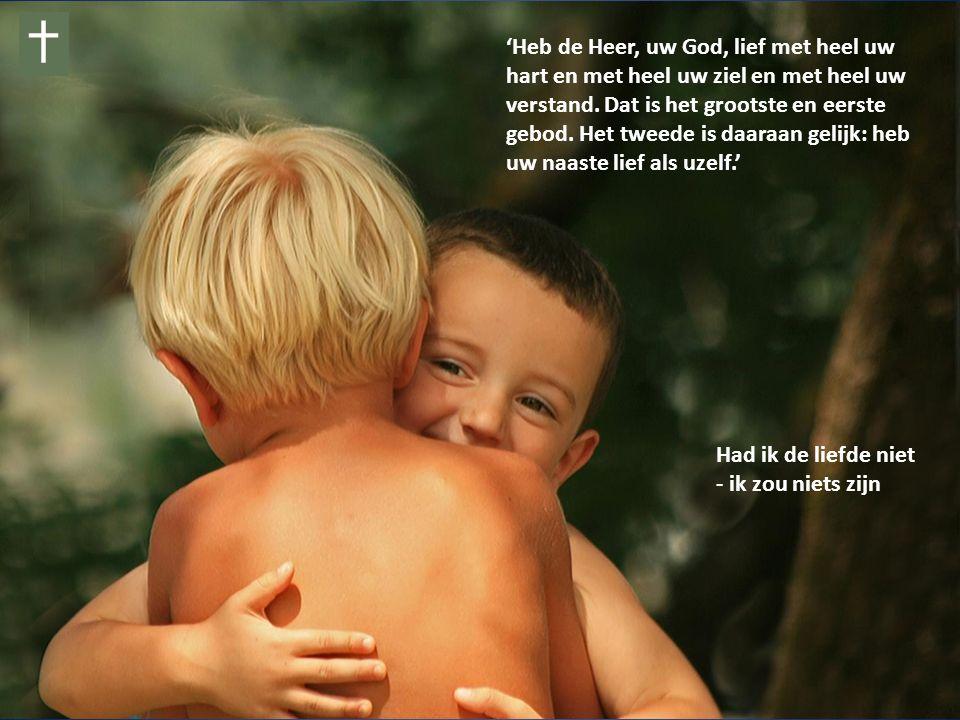 Had ik de liefde niet - ik zou niets zijn 'Heb de Heer, uw God, lief met heel uw hart en met heel uw ziel en met heel uw verstand.