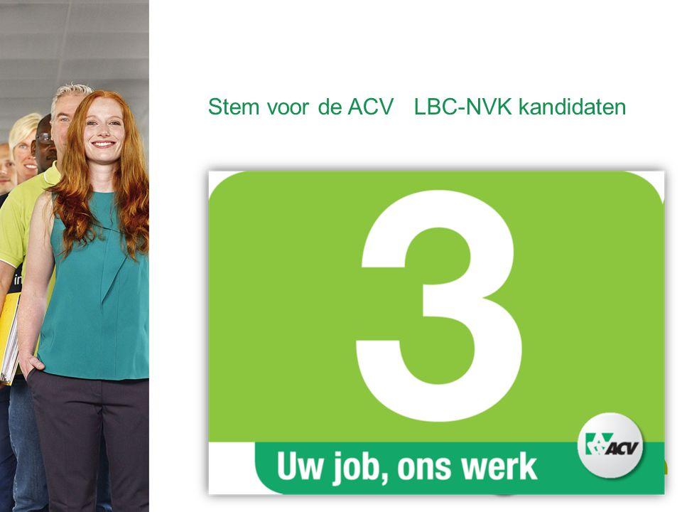 Stem voor de ACV LBC-NVK kandidaten