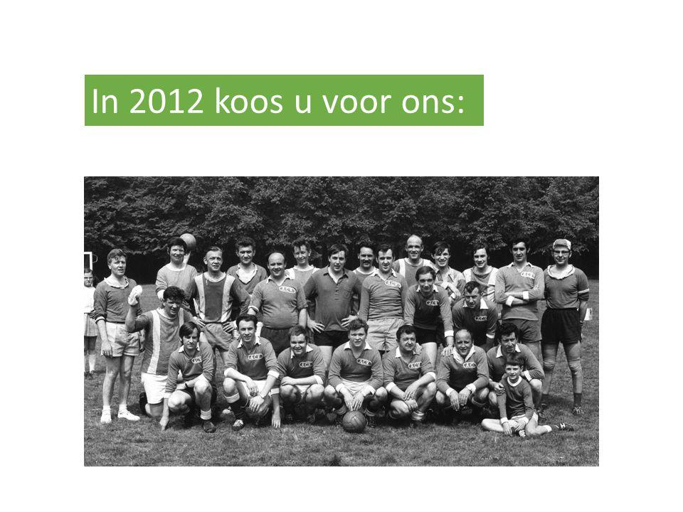 In 2012 koos u voor ons: