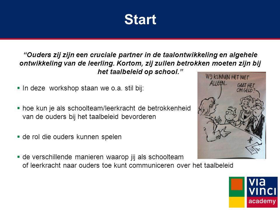 Start Ouders zij zijn een cruciale partner in de taalontwikkeling en algehele ontwikkeling van de leerling.