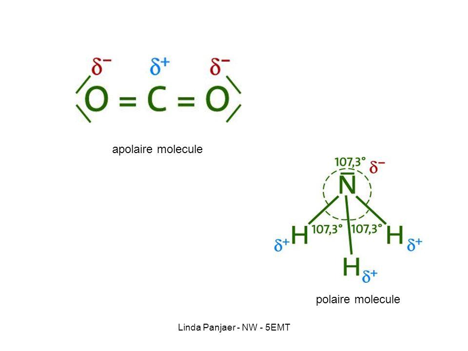 Linda Panjaer - NW - 5EMT apolaire molecule polaire molecule