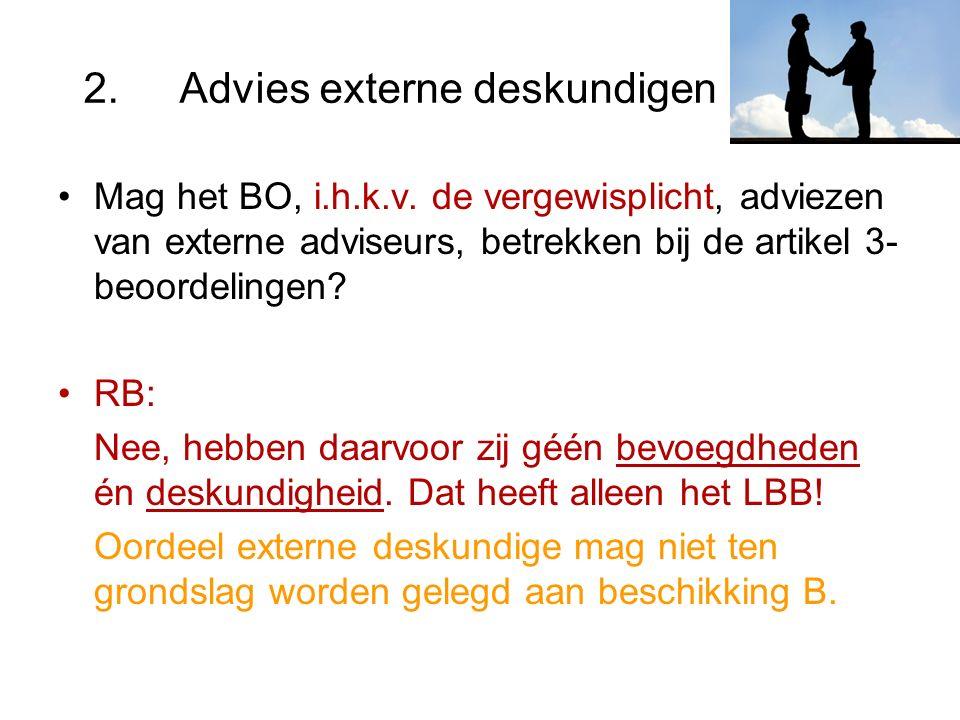 2.Advies externe deskundigen Mag het BO, i.h.k.v.
