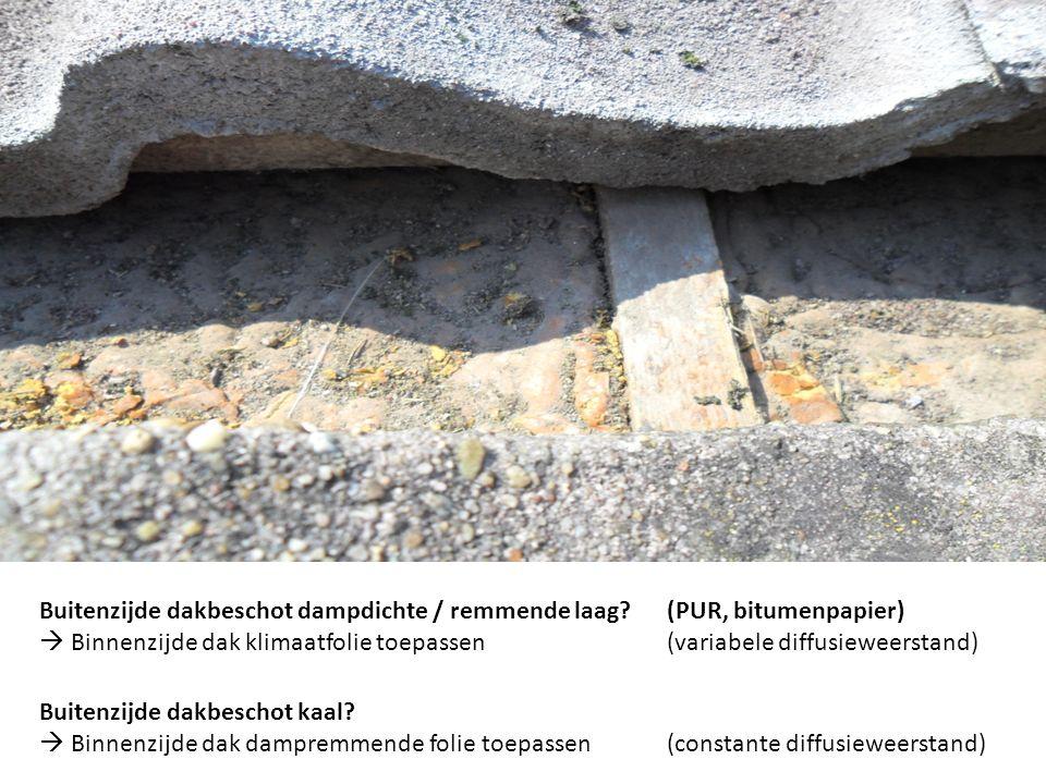 Dakisolatie Buitenzijde dakbeschot dampdichte / remmende laag? (PUR, bitumenpapier)  Binnenzijde dak klimaatfolie toepassen(variabele diffusieweersta
