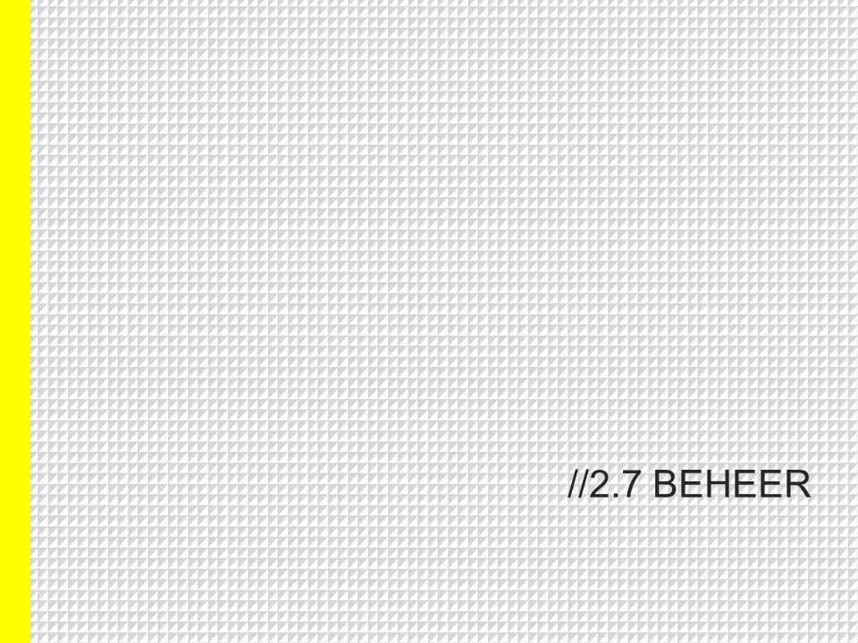 //2.7 BEHEER