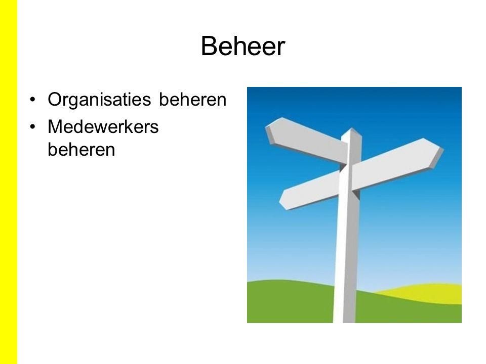 Beheer Organisaties beheren Medewerkers beheren