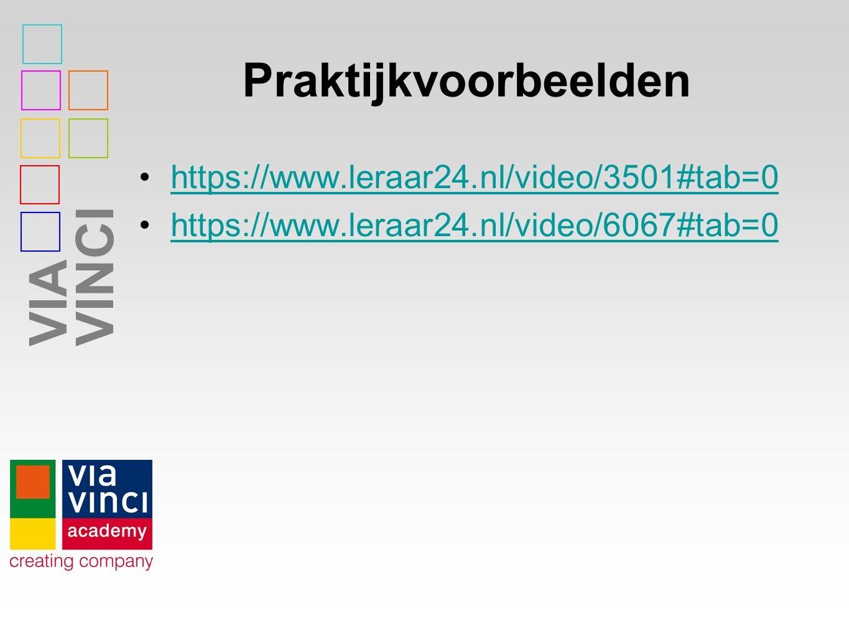 VIAVINCI Praktijkvoorbeelden https://www.leraar24.nl/video/3501#tab=0 https://www.leraar24.nl/video/6067#tab=0