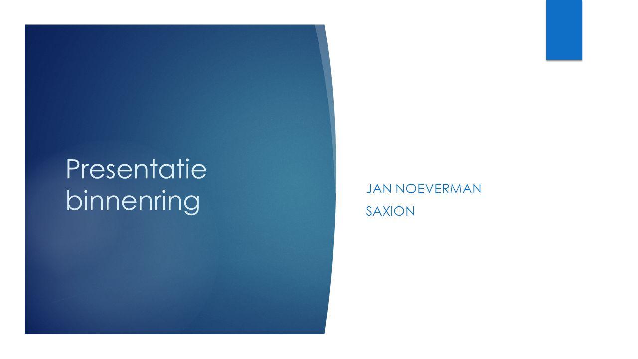 Presentatie binnenring JAN NOEVERMAN SAXION