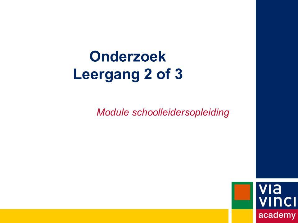 Onderzoek Leergang 2 of 3 Module schoolleidersopleiding
