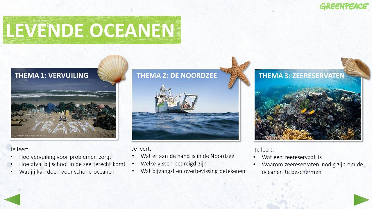 Je leert: Hoe vervuiling voor problemen zorgt Hoe afval bij school in de zee terecht komt Wat jij kan doen voor schone oceanen Je leert: Wat er aan de