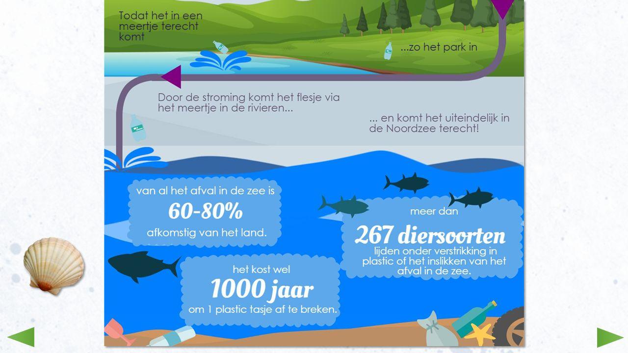 In de vorige afbeeldingen zag je hoe afval van het land op verschillende manieren in de zee terecht kan komen.