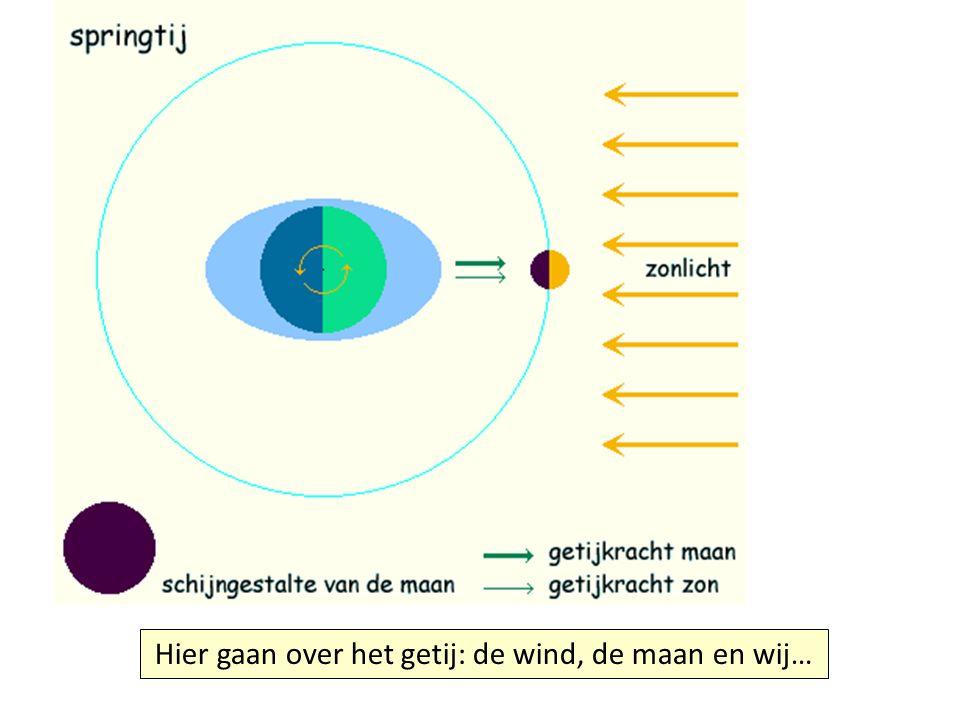 Hier gaan over het getij: de wind, de maan en wij…