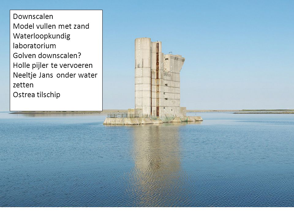 Downscalen Model vullen met zand Waterloopkundig laboratorium Golven downscalen.