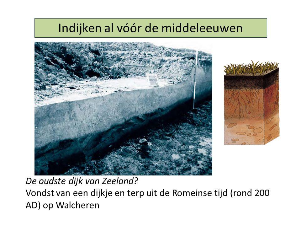 Indijken al vóór de middeleeuwen De oudste dijk van Zeeland? Vondst van een dijkje en terp uit de Romeinse tijd (rond 200 AD) op Walcheren