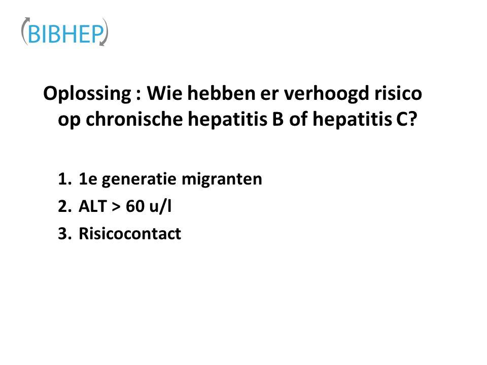 Wat is de boodschap .Wie testen voor hepatitis B en C in de curatieve zorg.