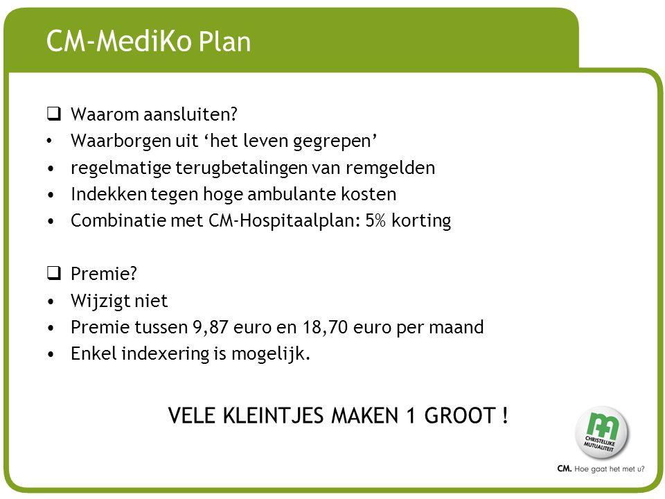 # CM-MediKo Plan  Waarom aansluiten.