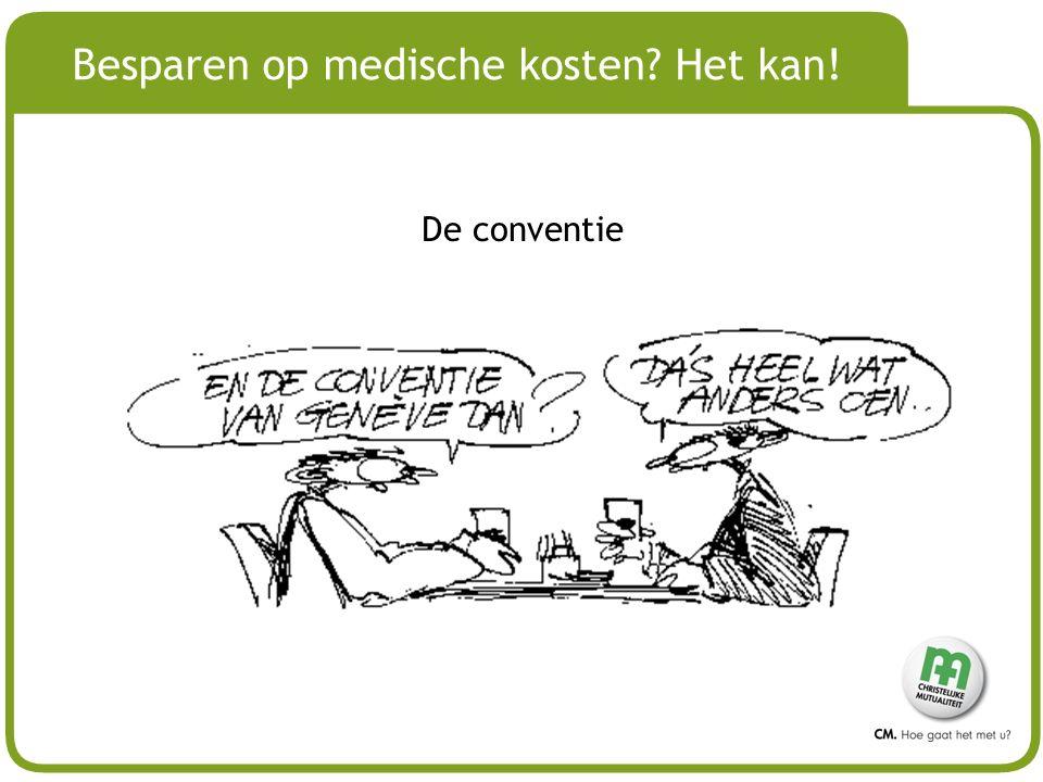 # Besparen op medische kosten? Het kan! De conventie