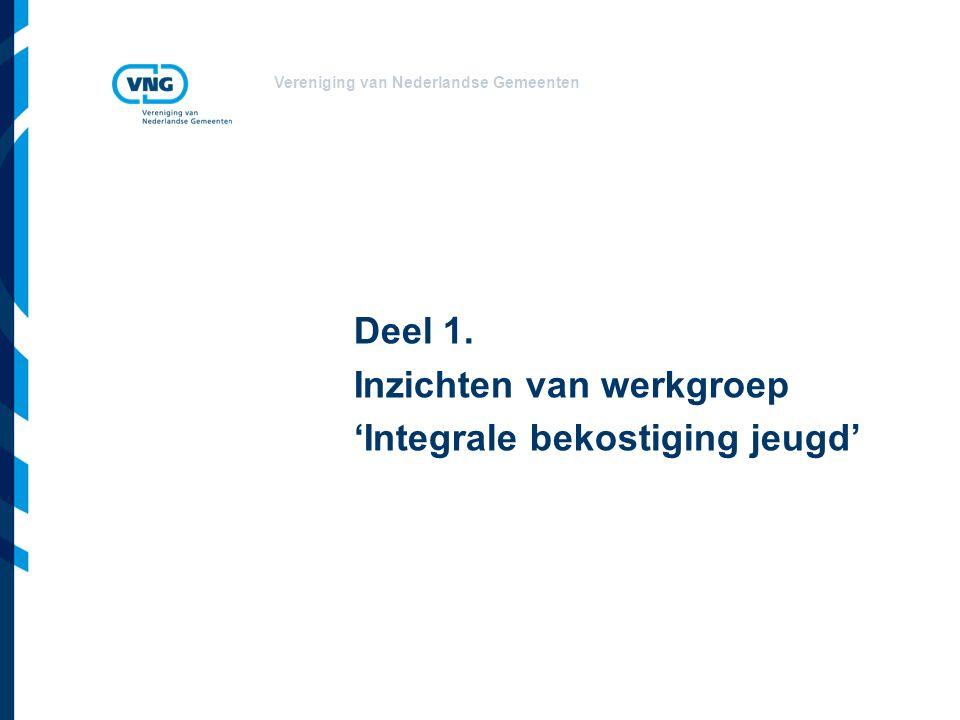 Vereniging van Nederlandse Gemeenten Deel 1. Inzichten van werkgroep 'Integrale bekostiging jeugd'