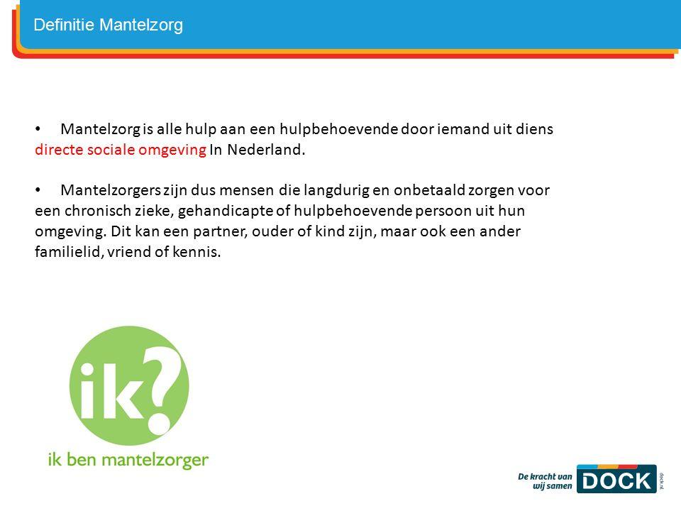 Mantelzorg is alle hulp aan een hulpbehoevende door iemand uit diens directe sociale omgeving In Nederland.