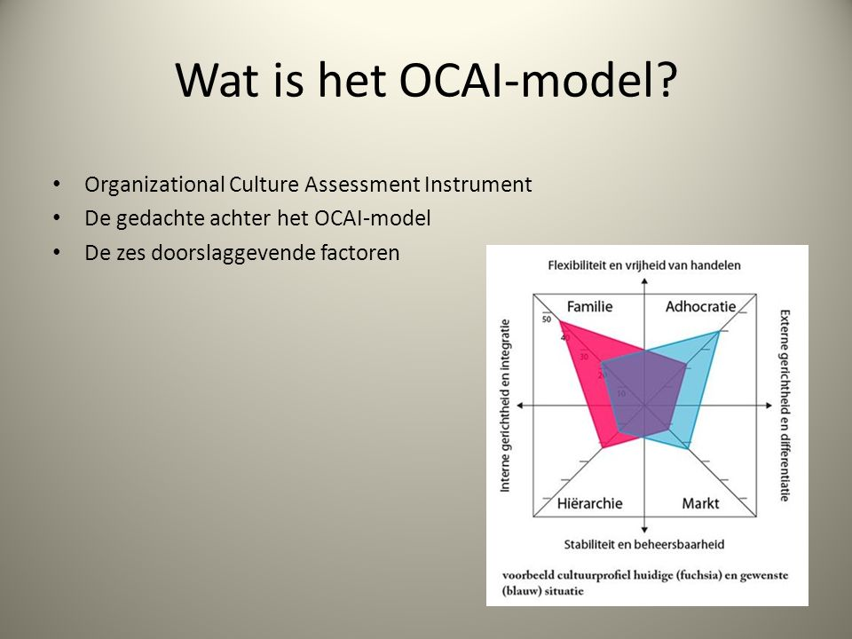 Wat is het OCAI-model.
