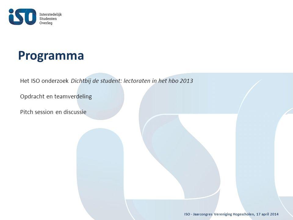 ISO - Jaarcongres Vereniging Hogescholen, 17 april 2014