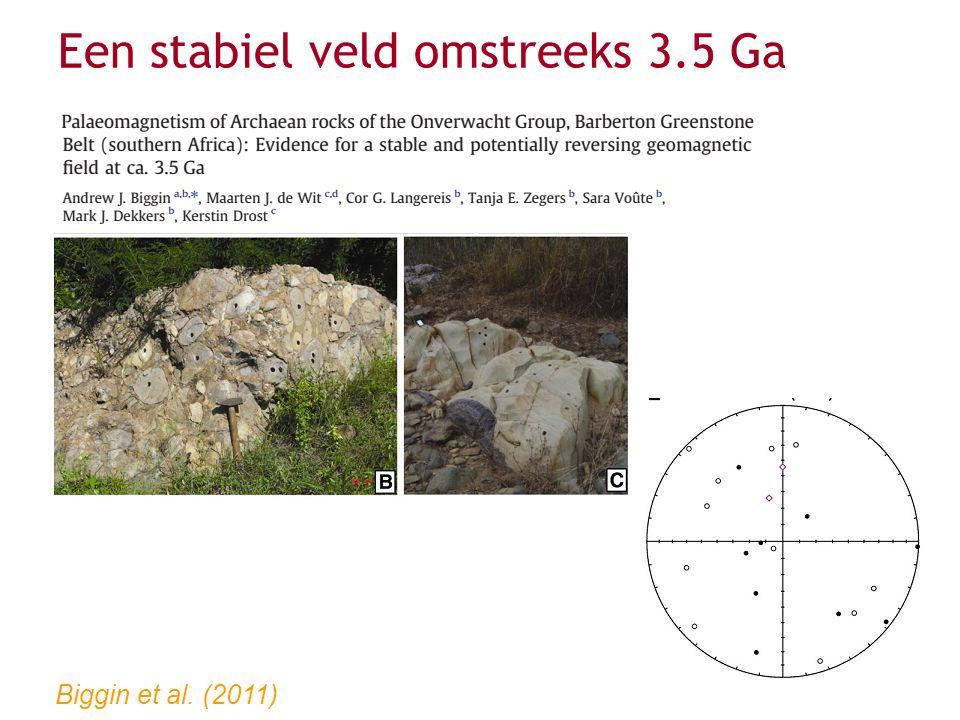 Biggin et al. (2011) Een stabiel veld omstreeks 3.5 Ga