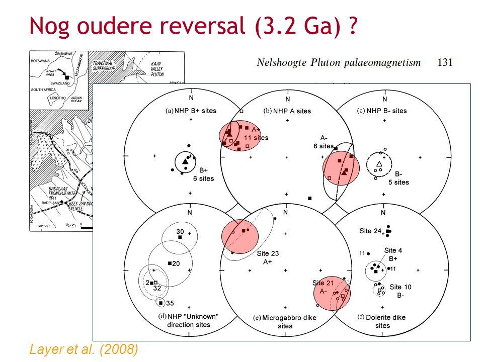 Biggin et al. (2011) Of zelfs nog ouder (3.5 Ga) ?