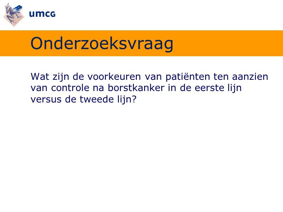 ›Semigestructureerde interviews  Interviewschema ›Patiënten (n=70)  HAP Registratie Netwerk Groningen  Diagnose geverifieerd  In opzet curatief behandeld Miles 1994; Maso 1998 Methode