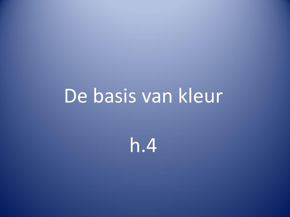 De basis van kleur h.4