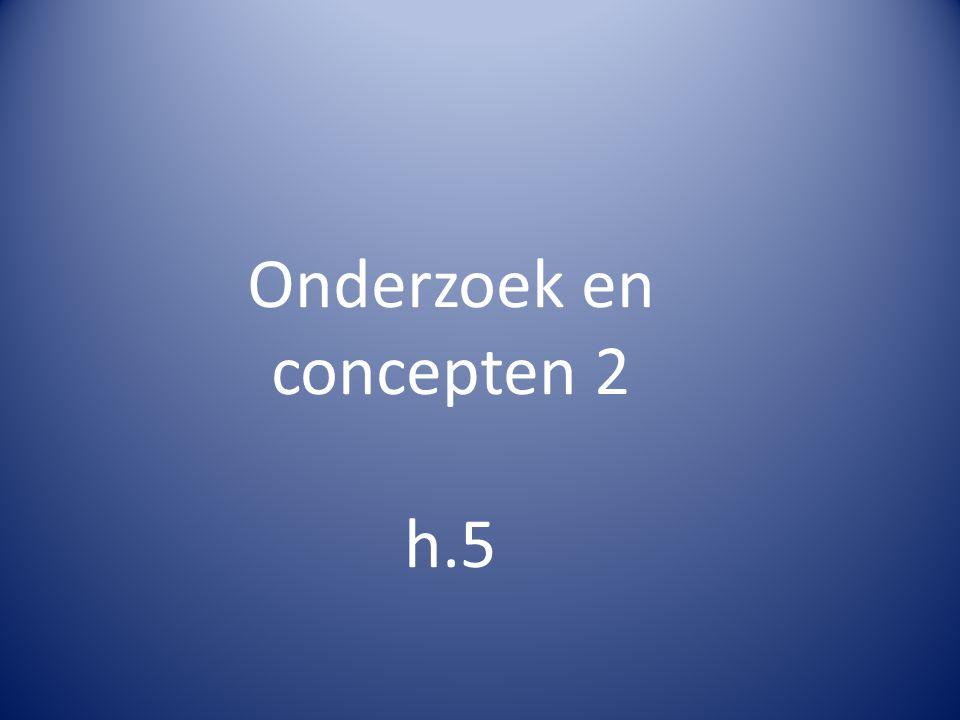 Onderzoek en concepten 2 h.5