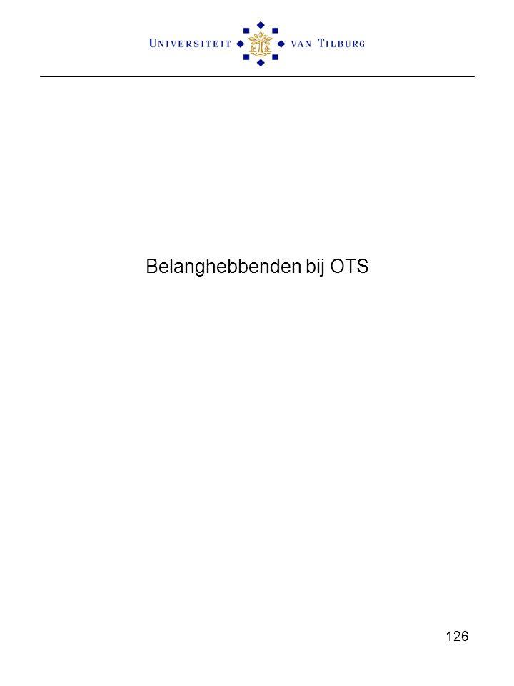 Belanghebbenden bij OTS 126