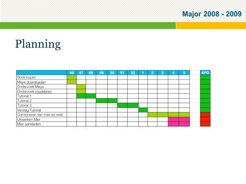Major 2008 - 2009 Planning