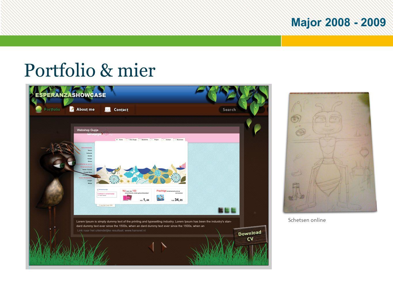 Major 2008 - 2009 Portfolio & mier Schetsen online