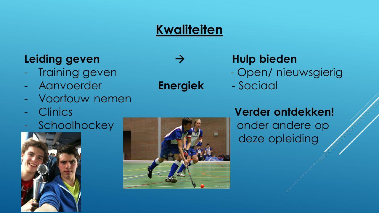 Toekomst Sportwereld -Wielrennen  commercieel -Hockeywereld  veel kennis -Training/coaching  ervaring -Management kant  management gedeelte interesseert mij Inspiratie Zit verwerkt in de Bovengenoemde dingen