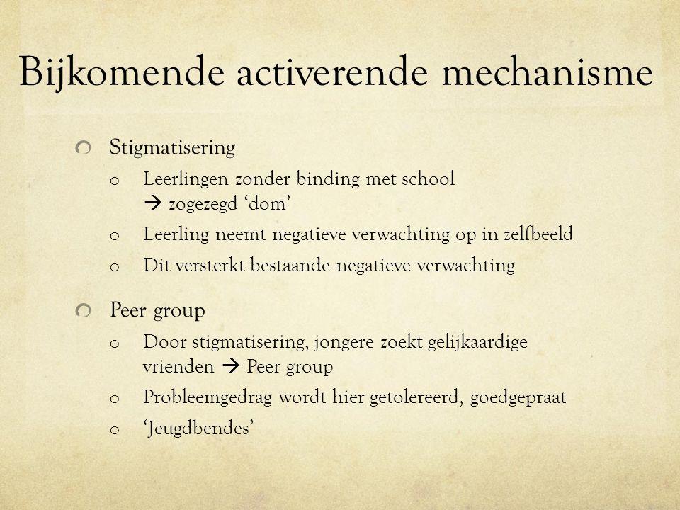 Samenvatting o Gemis aan sociale binding o Stigmatisering o Aansluiten bij lotgenoten (peer group)  Deze 3 kenmerken zorgen voor neerwaartse spiraal van maatschappelijke kwetsbaarheid.