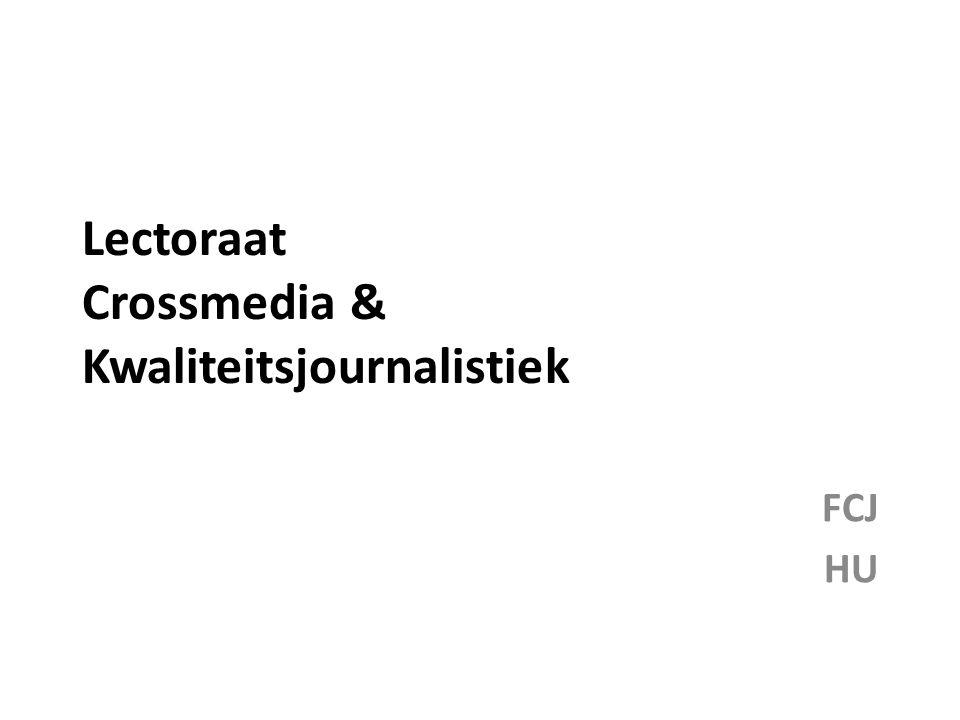 Lectoraat Crossmedia & Kwaliteitsjournalistiek FCJ HU