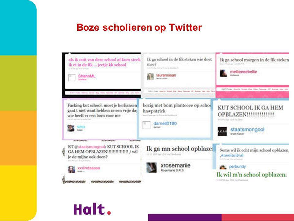 Boze scholieren op Twitter