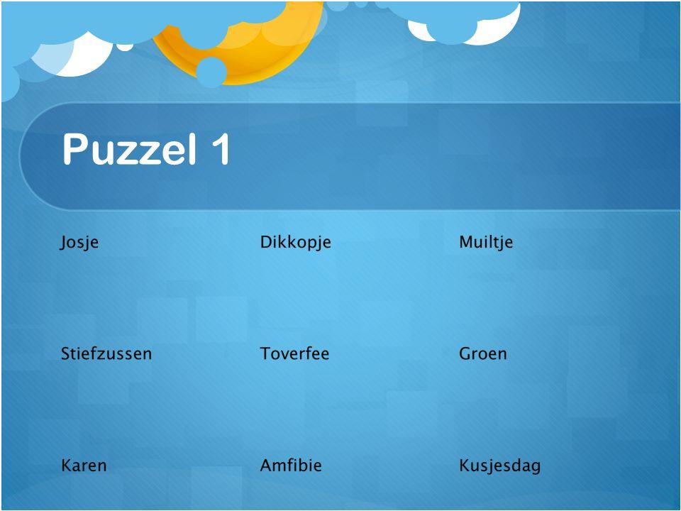 Puzzel 1