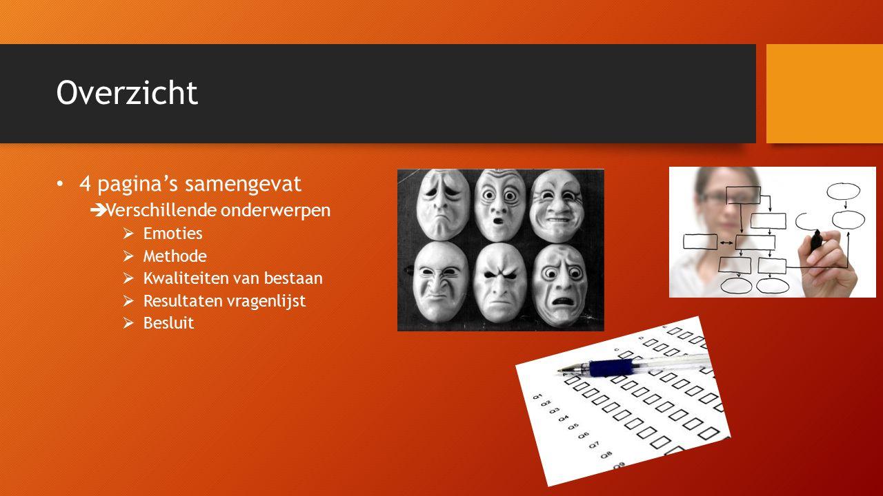 Emoties Definitie  gebaseerd op boeken  Jeannin N  Adriaessens P  Mertens E Gewerkt met 4 vrouwen  Syndroom van Down niveau van ontwikkeling bepaalt  Mevissen L.