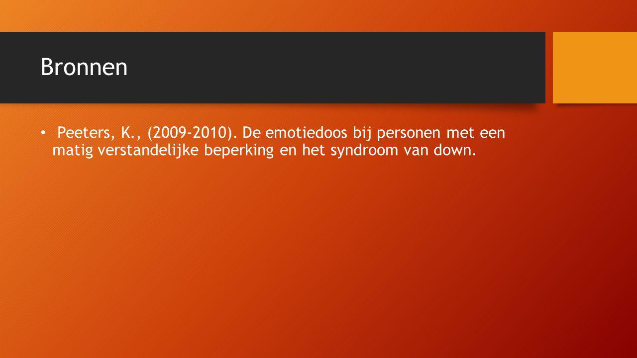 Bronnen Peeters, K., (2009-2010).