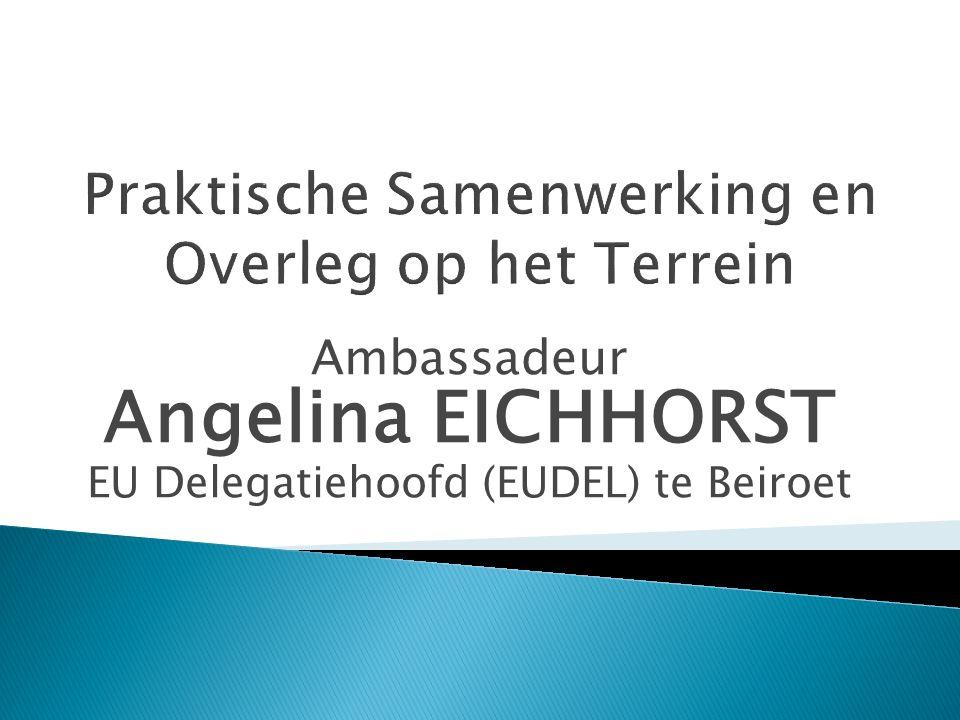 Ambassadeur Angelina EICHHORST EU Delegatiehoofd (EUDEL) te Beiroet