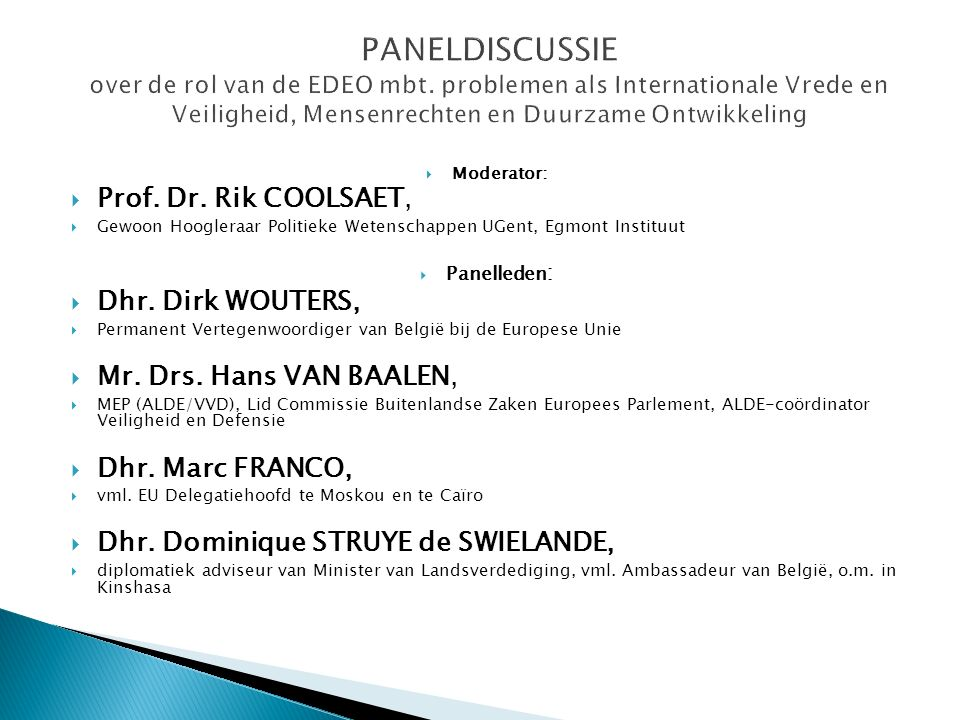  Moderator:  Prof. Dr.