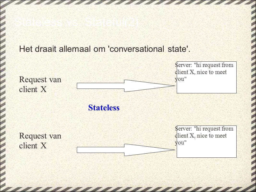 Stateless vs.Stateful(3) Het draait allemaal om conversational state .