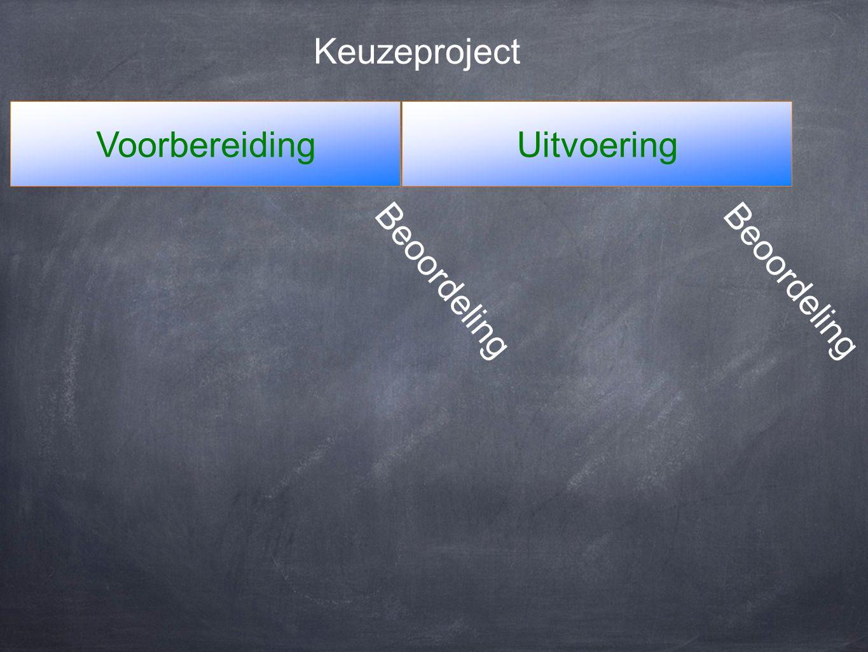 VoorbereidingUitvoering Keuzeproject Beoordeling