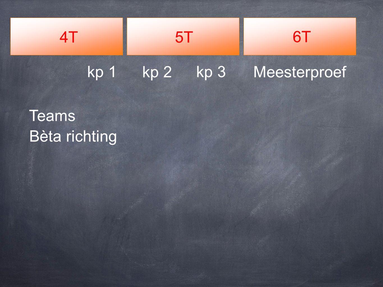 4T5T 6T Meesterproefkp 2 kp 3kp 1 Teams Bèta richting