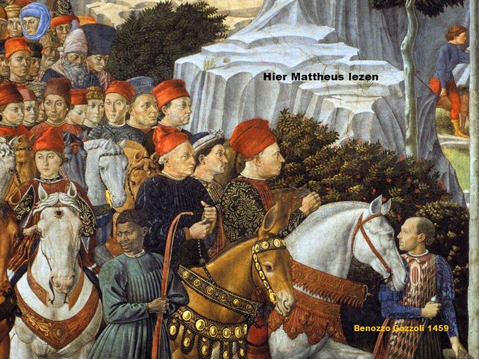 Benozzo Gozzoli 1459 Hier Mattheus lezen