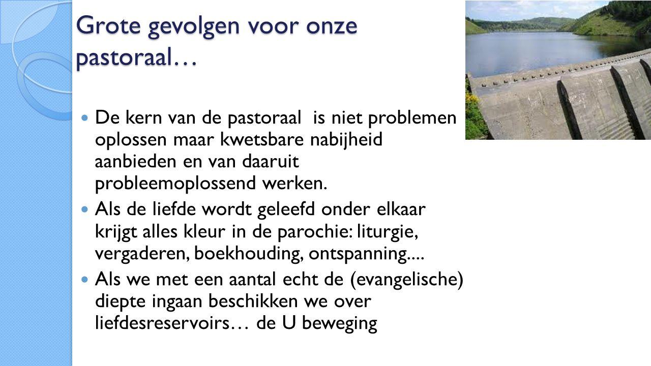 Grote gevolgen voor onze pastoraal… De kern van de pastoraal is niet problemen oplossen maar kwetsbare nabijheid aanbieden en van daaruit probleemoplossend werken.